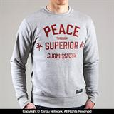 "Scramble ""Peace"" Grey Crewneck Sweater"